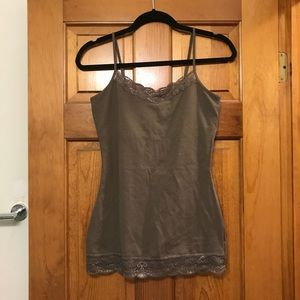 Express Olive Lace Bra Camisole
